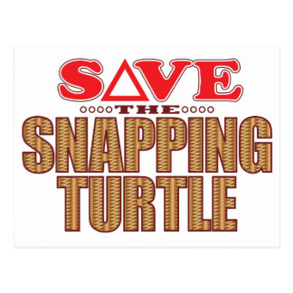 Snapping Turtle Save Postcard