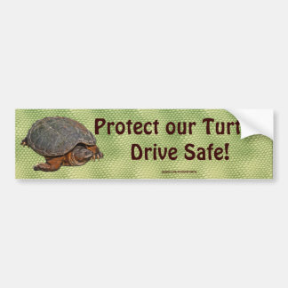 Snapping Turtle Terrapin-lover Gift Car Bumper Sticker