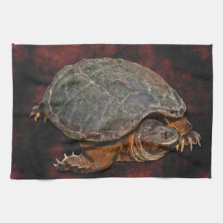 Snapping Turtle Terrapin-lover Gift Kitchen Towel