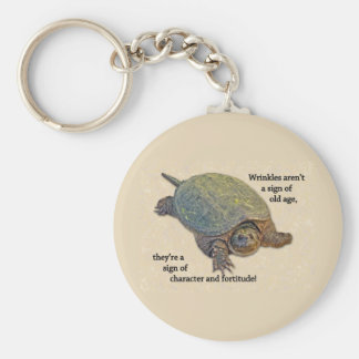 Snapping Turtle Wrinkled Old Age Wisdom Keychain