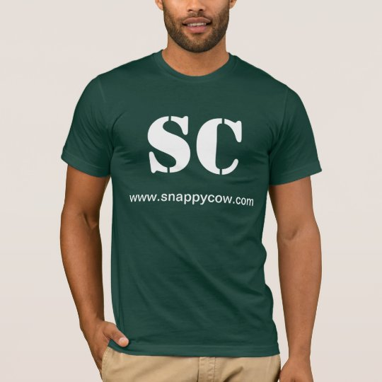 SNAPPY COW Green T-Shirt