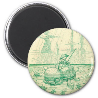 Snappy Fishing 2 Inch Round Magnet