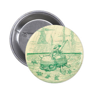 Snappy Fishing Pinback Button