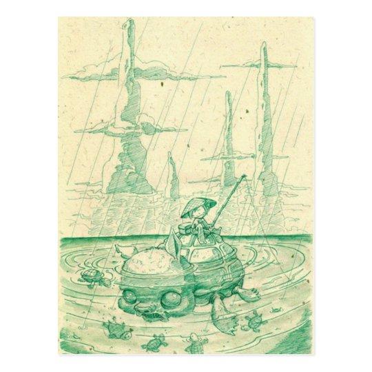 Snappy Fishing Postcard