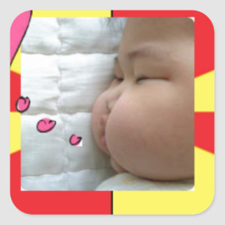 snapshot Baby Vic Inc 2. Square Sticker