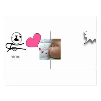 snapshot Baby Vic Inc. Postcard