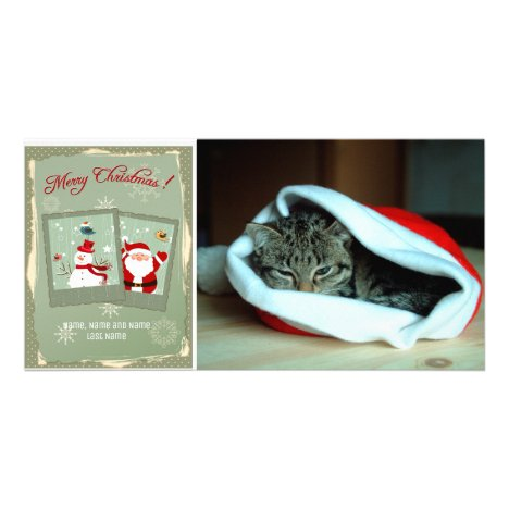 Snapshots of Santa and Frosty Photo Card