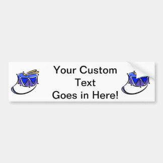 snare abstracted sling toy blue.png car bumper sticker