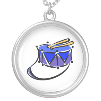 snare abstracted sling toy blue.png round pendant necklace