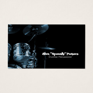 Snare and Tom Blue Drummer Business Card