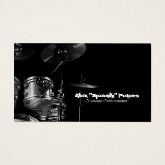 Snare and Tom Grey Drummer Business Card