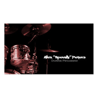 Snare and Tom Red Drummer Business Card
