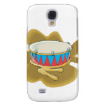 Snare drum and mallets percussion graphic samsung galaxy s4 cover