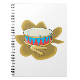 Snare drum and mallets percussion graphic spiral notebook