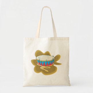 Snare drum and mallets percussion graphic tote bag