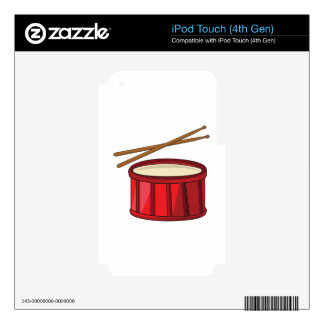 Snare Drum Decals For iPod Touch 4G