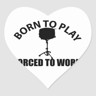 snare-drum design heart sticker