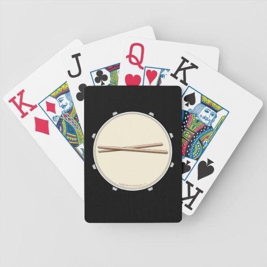Snare Drum Drumsticks Custom Playing Cards Deck