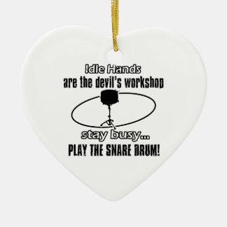 snare drum musical Design Ceramic Ornament