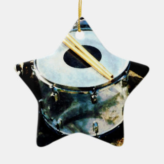 Snare Drum Double-Sided Star Ceramic Christmas Ornament