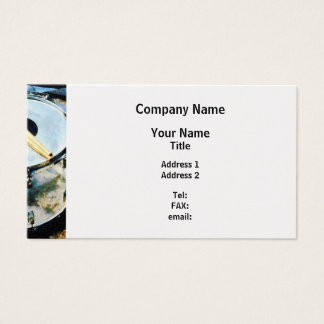 Snare Drum - Platinum Finish Business Card
