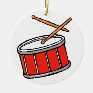 Snare Drum Red Ceramic Ornament