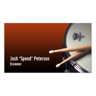 Snare Drum Red Drummer Musician Business Card