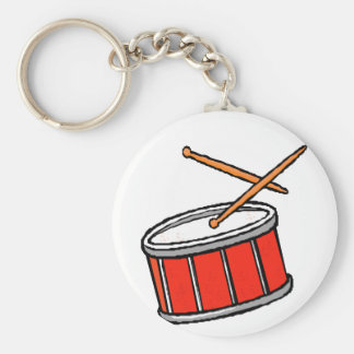Snare Drum Red Keychain
