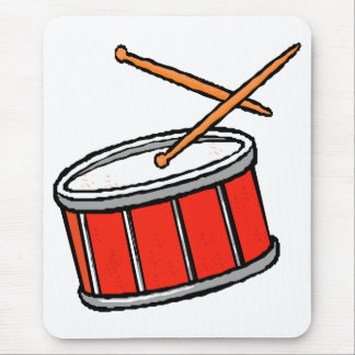 Snare Drum Red Mouse Pad