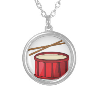 Snare Drum Round Pendant Necklace
