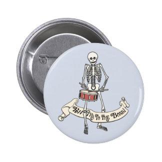 Snare Drum Skeleton Button
