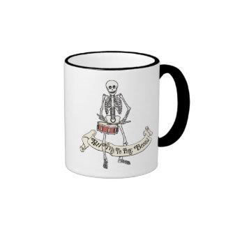 Snare Drum Skeleton Ringer Mug