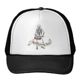 Snare Drum Skeleton Trucker Hat