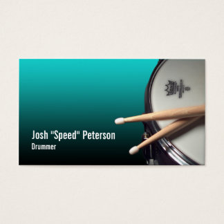 Snare Drum Turquoise Musician Business Card