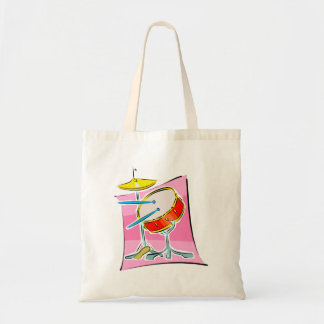 Snare HiHat Sticks Pink Background Image Tote Bag