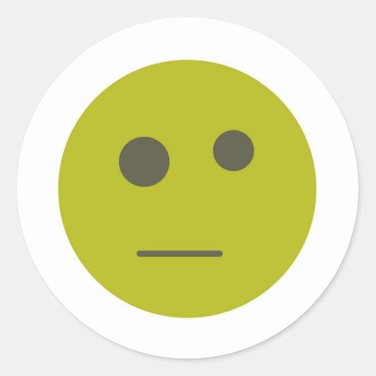 Snark Face Classic Round Sticker