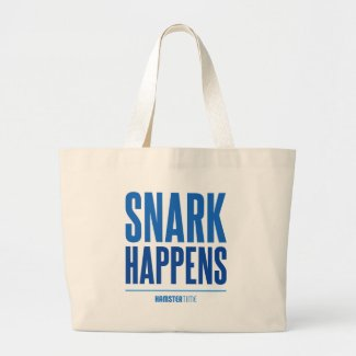 Snark Happens - Blue Lettering Large Tote Bag