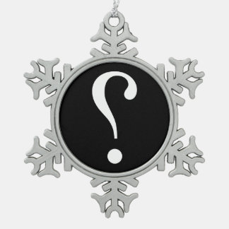 sNARK mARK {ironicon} Snowflake Pewter Christmas Ornament