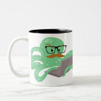 Snarktopus Internet Octopus Two-Tone Coffee Mug