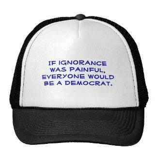Snarky, favorable-Demócrata, sombrero político del Gorro De Camionero