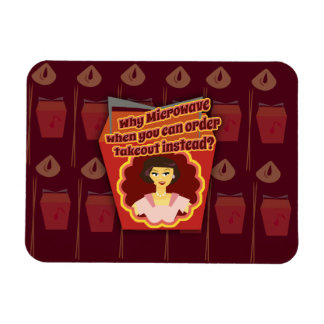 Snarky Microwave Retro Housewife Magnet
