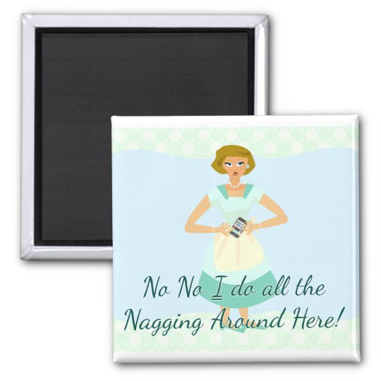 Snarky Nagging Smart Phone Slogan Magnet