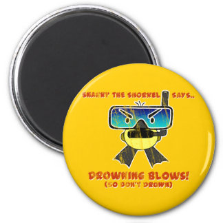 Snarky the Snorkel - Retro 2 Inch Round Magnet