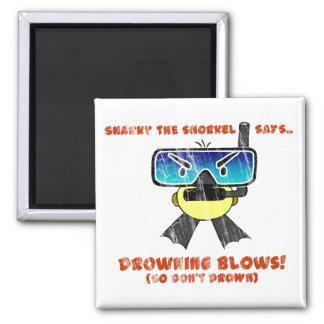 Snarky the Snorkel - Retro Magnet