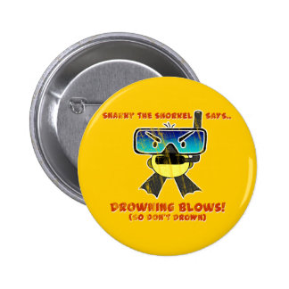 Snarky the Snorkel - Retro Pinback Button