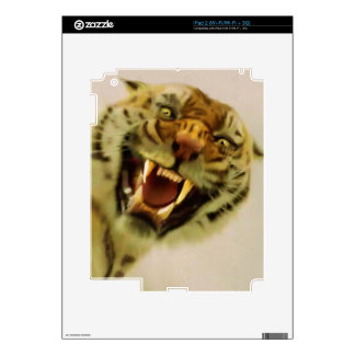 Snarling Bengal Tiger Big Cat Wildlife Art iPad 2 Skins