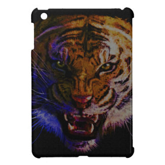 Snarling Bengal Tiger Big Cat Wildlife Art iPad Mini Covers