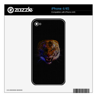 Snarling Bengal Tiger Big Cat Wildlife Art iPhone 4 Skin