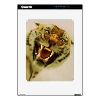 Snarling Bengal Tiger Big Cat Wildlife Art Skins For The iPad