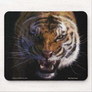 Snarling Bengal Tiger Fine Art Wildlife Mousepad